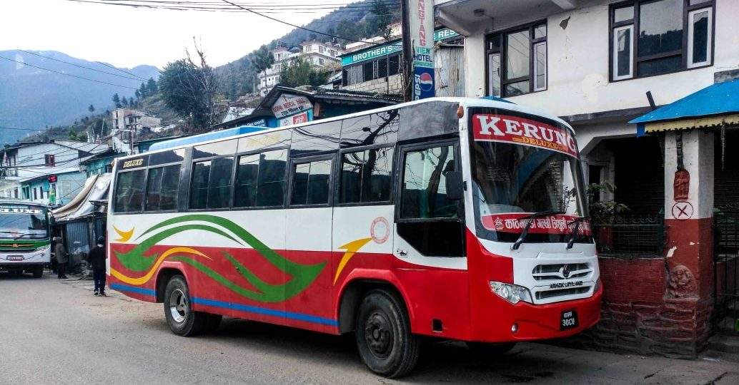 Kathmandu to Dhunche by Bus, Jeep