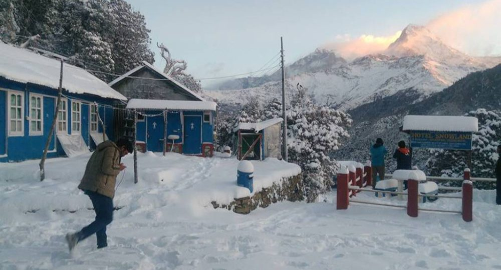 Snowfall Places in Nepal
