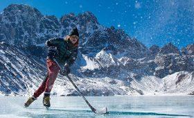Gokyo Lake Ice Hockey and Ice Skating