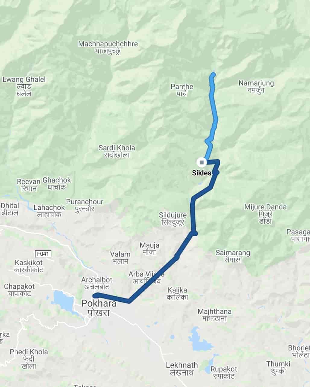 Kapuche Lake Trek Itinerary